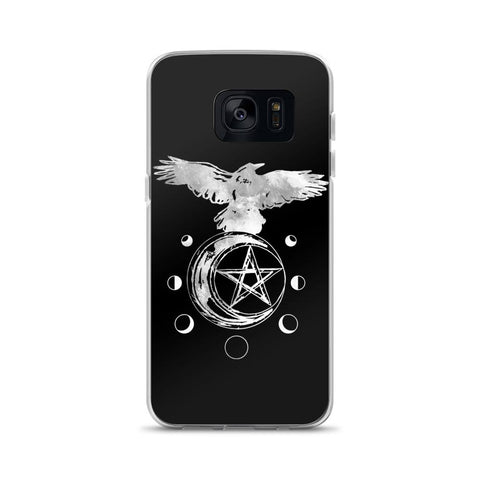 Raven Moon Phase Samsung Case