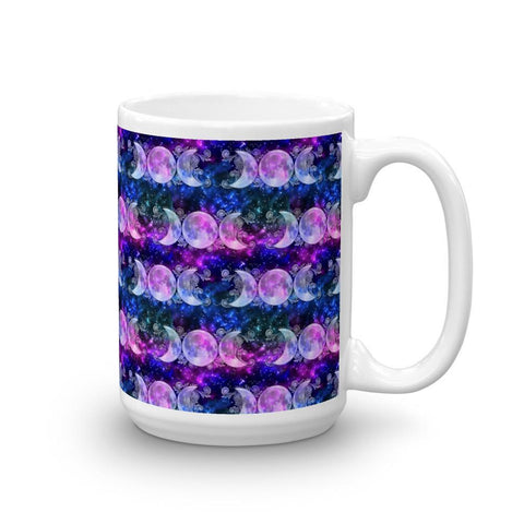 Triple Goddess Moons and Stars Coffee Mug - Black Wolf Siren