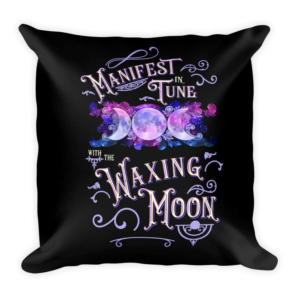 Manifest Square Pillow - Black Wolf Siren