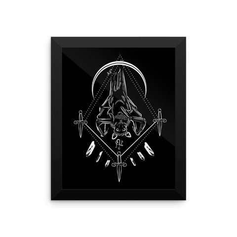 Bat Protection Totem Framed Poster