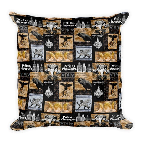 Spells and Potions Square Pillow