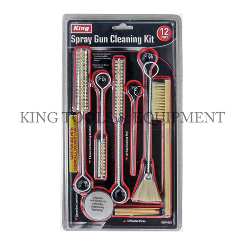 KING 12-pc SPRAY GUN CLEANING KIT