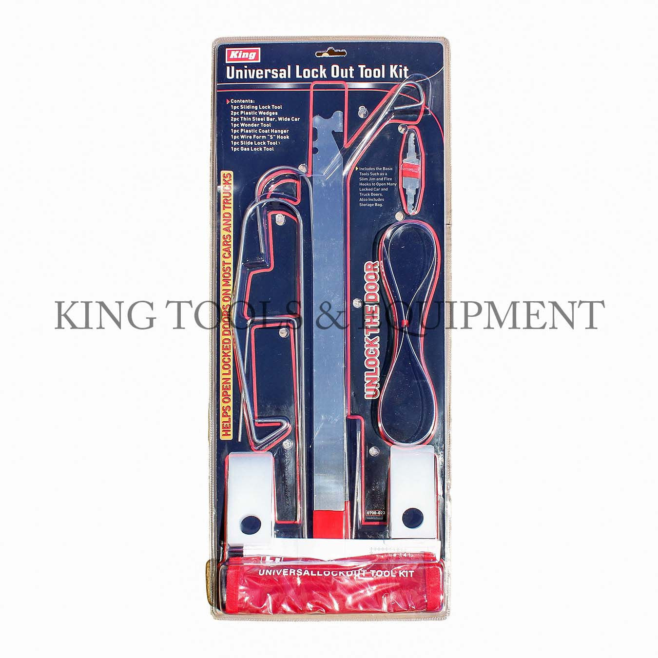 Lock Out Kit For Cars >> 9 Pc Universal Lock Out Tool Kit W Pouch 0700 0 King Tools