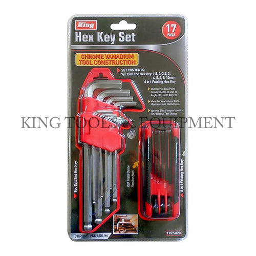 KING 17-pc HEX KEY and SCREWDRIVER SET