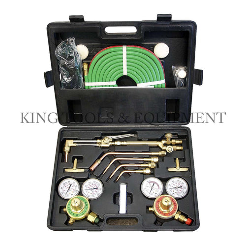 KING OXYGEN and ACETYLENE CUTTING TORCH KIT, UL (Victor) w/ Blow Case