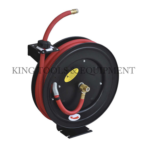 "KING 50' x 1/2"" Retractable AIR HOSE REEL"