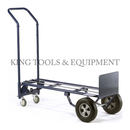 KING 2-in-1 CONVERTIBLE HAND TRUCK, 600 lbs Capacity, Steel Frame