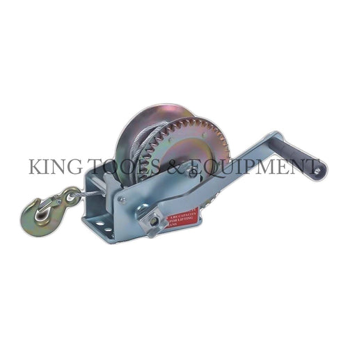 KING HAND WINCH w/ 8m (26') Steel Cable and Hook