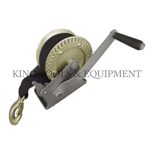 KING HAND WINCH w/ 8m (26') Tie Down and Hook
