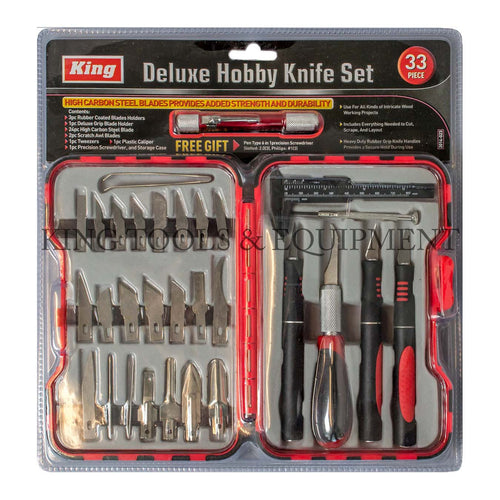 KING 33-Piece Deluxe Exacto HOBBY KNIFE SET