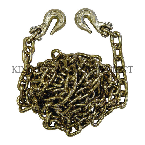 "KING G70 3/8"" x 16' Transport Tie-Down CHAIN w/ Hooks"