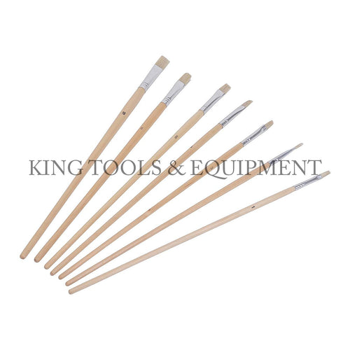 KING 7-pc Assorted LONG ARTIST PAINT BRUSH SET