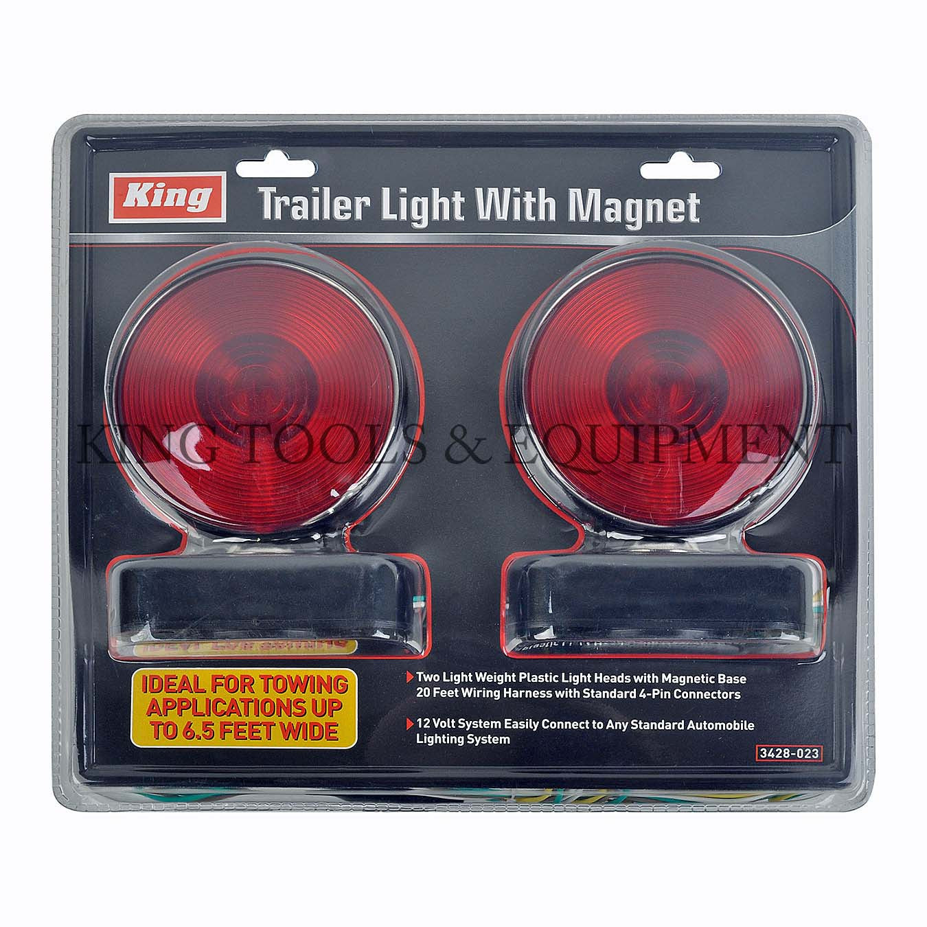 12v Complete Trailer Light Kit W Magnet 3428 0 King Tools Automotive Wiring Harness
