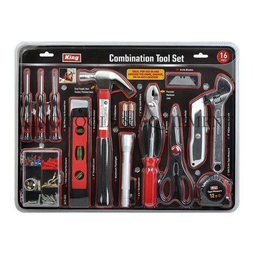 KING 16-pc Assorted COMBINATION TOOL SET
