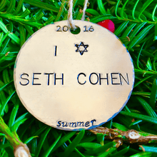 I Love Seth Cohen/Chrismukkah Ornament/Adam Brody/The O.C. Chrismukkah Ornament/Chrismukkah Ornaments/Hanukkah Ornament/Funny/Christmukkah