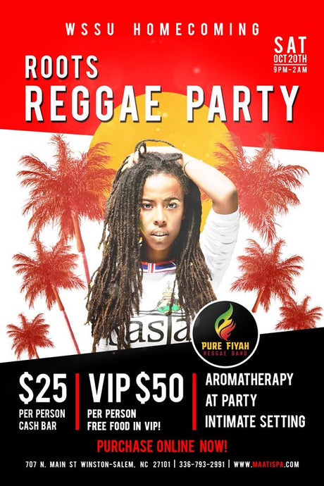 WSSU HOMECOMING - Roots Reggae Party - Spa Lounge