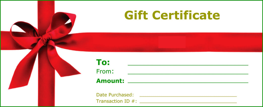 Discounted Gift Certificates