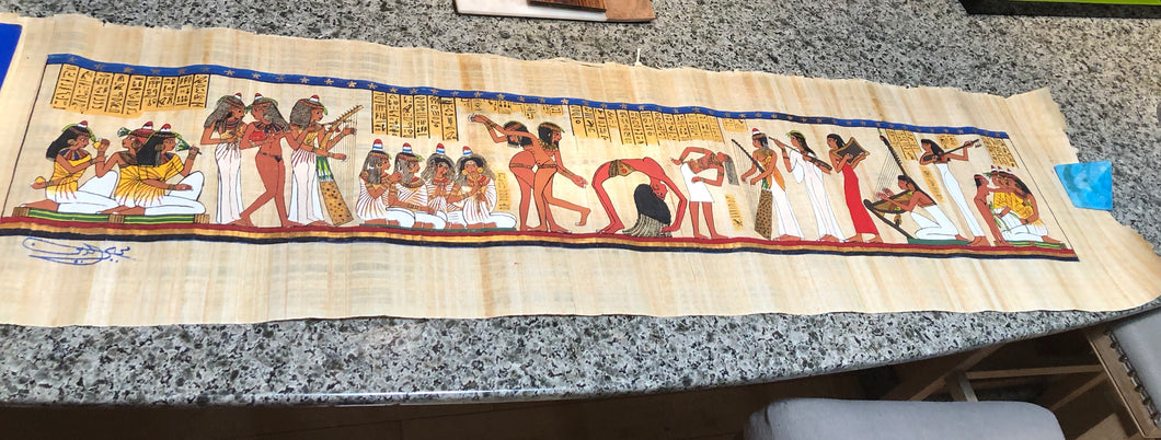 Egyptian Papyrus Painting - Authentic
