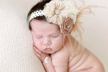 Couture Flower with Lace Headband