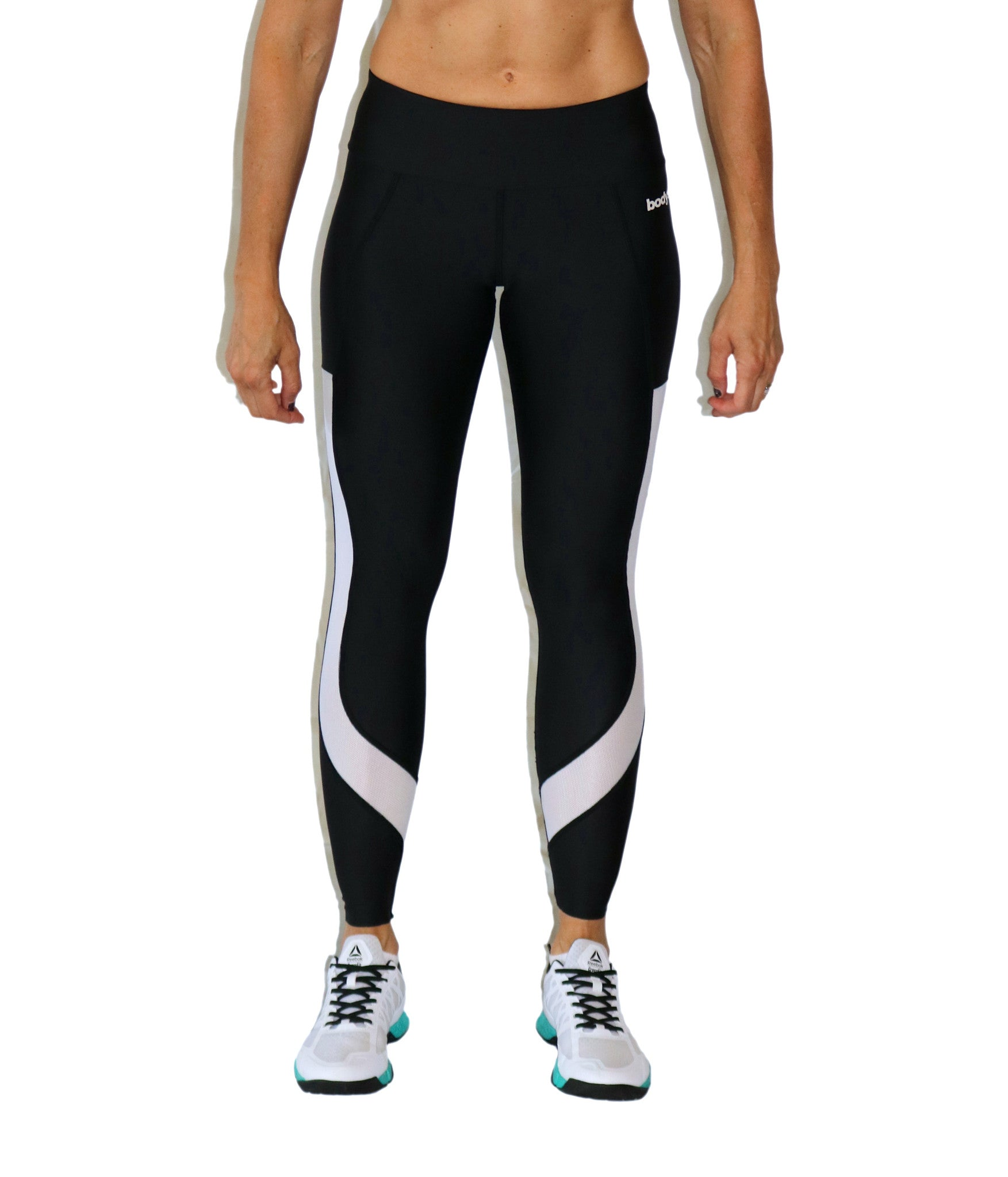 Compression Tights w/White Mesh