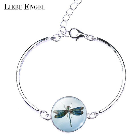 FREE OFFER - Glass Dragonfly Bangle Bracelet