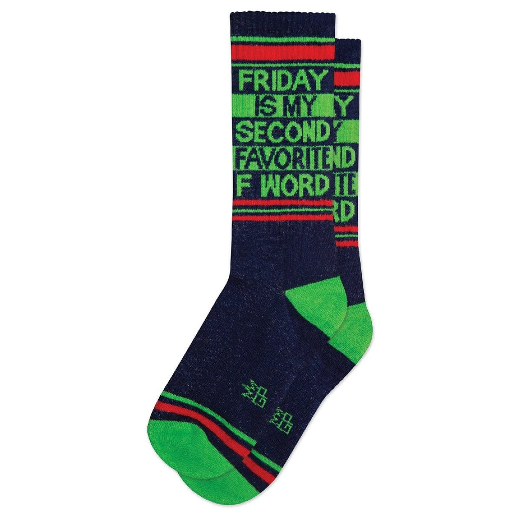FRIDAY IS MY SECOND FAVOURITE F WORD GYM SOCKS