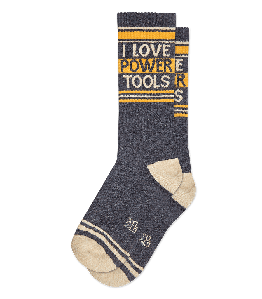 I LOVE POWER TOOLS GYM SOCK