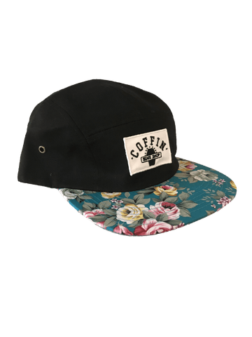 Coffin Skate Shop 5 Panel Floral Snapback