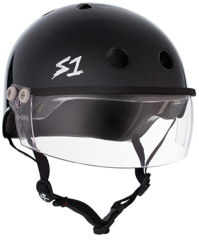 Black Gloss - S1 Lifer with Clear Visor