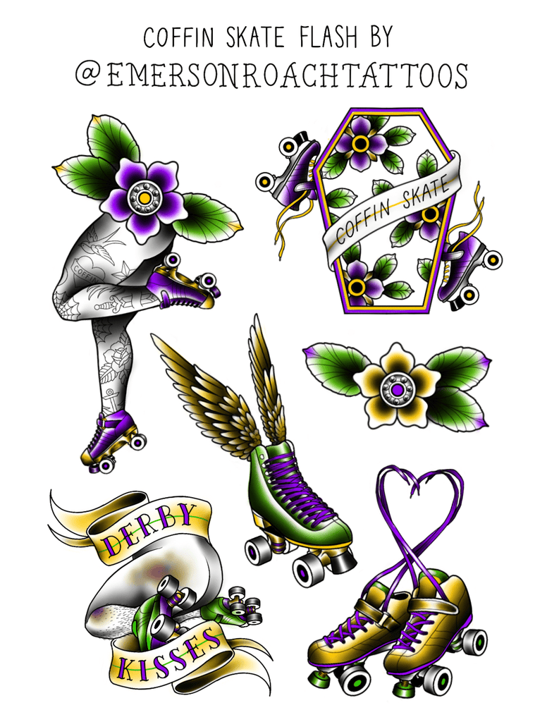 Coffin Skate Flash Sticker Sheet