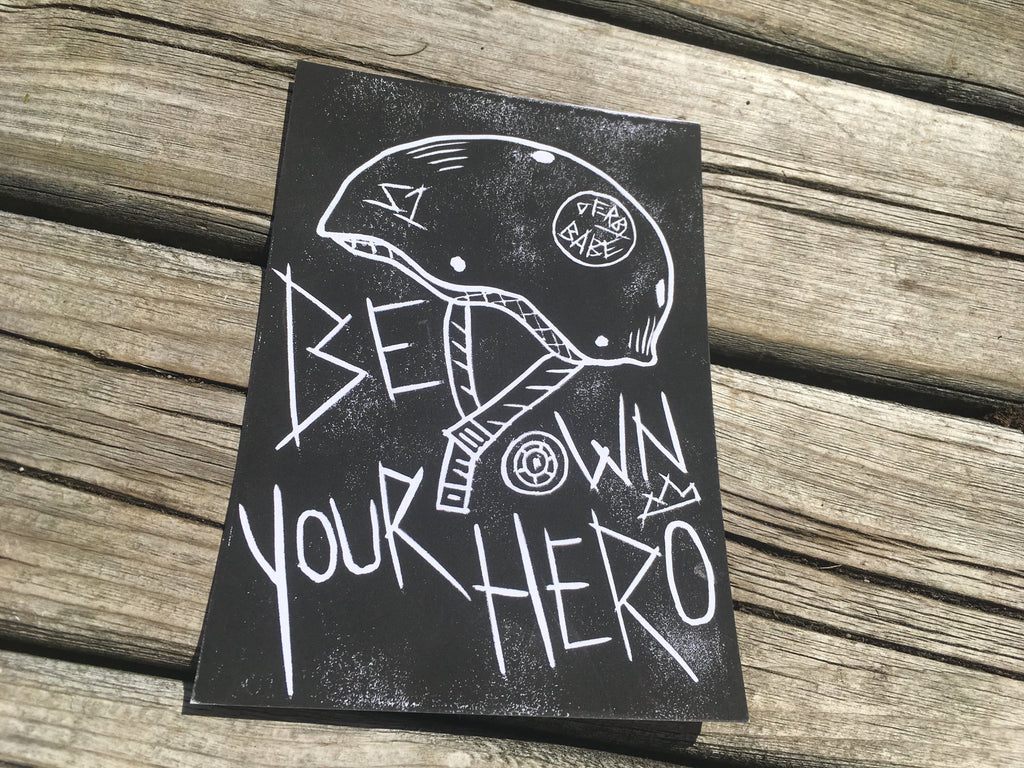 Be Your Own Hero - Linocut Print