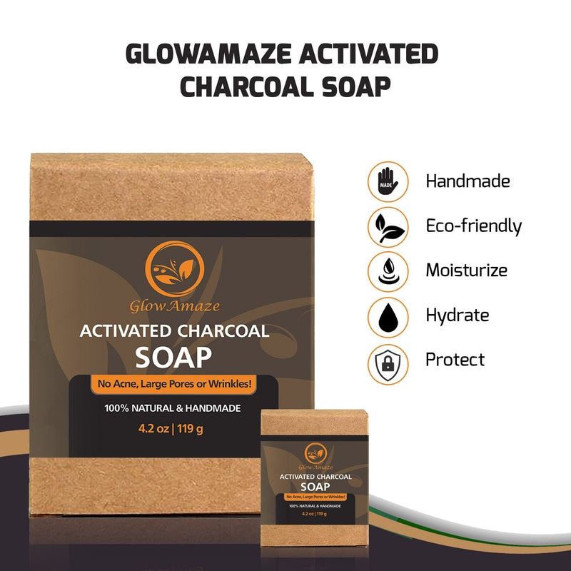 Activated Charcoal Soap (Black) - GlowAmaze