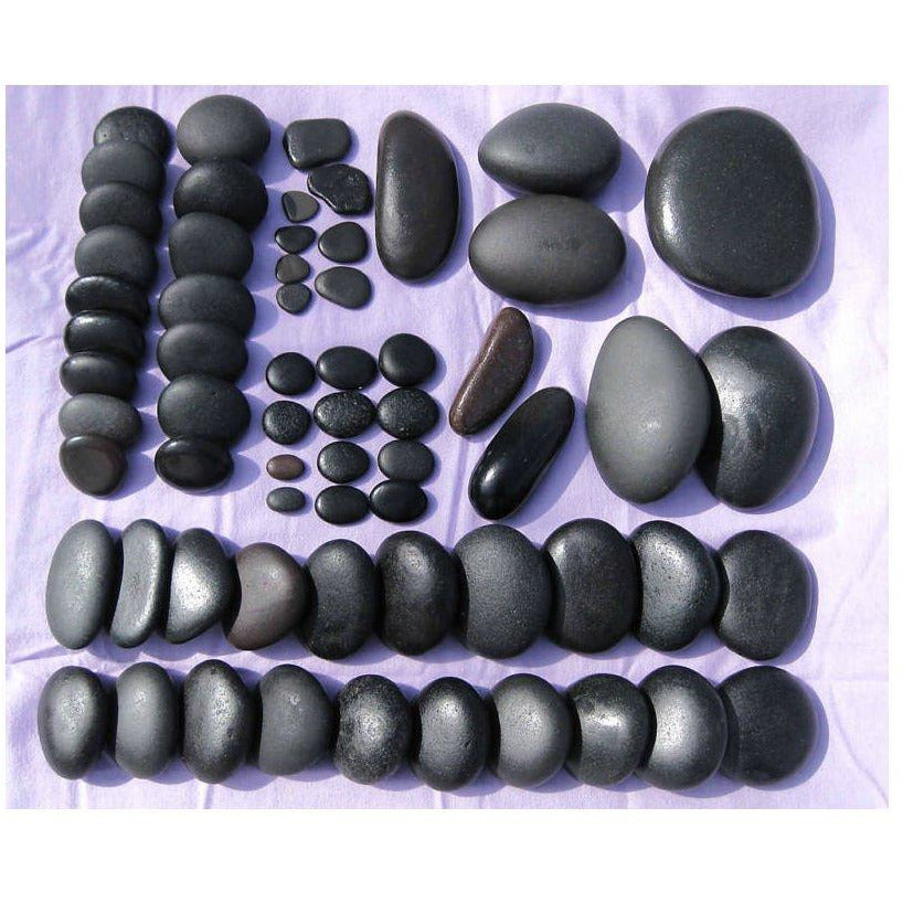 64 Pcs Deluxe Set - Great Lakes Basalt Massage Stone Hot Cold