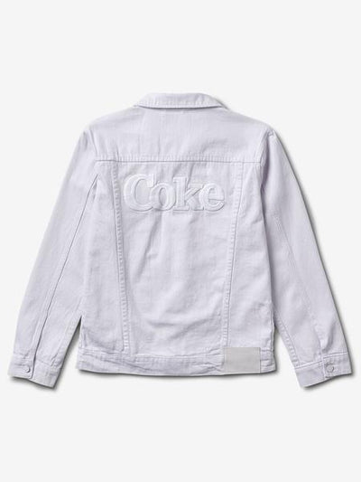 COKE DENIM JACKET - WHITE
