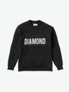 DIAMOND QUILTED CREWNECK