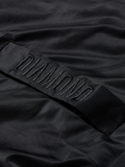 DIAMOND PANELLED BOMBER JACKET