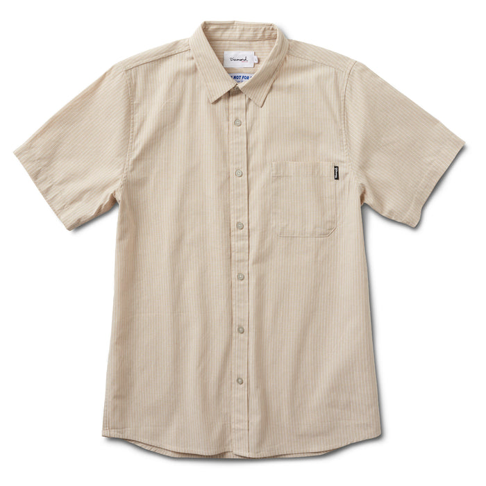 STRIPED SHORT SLEEVE WOVEN