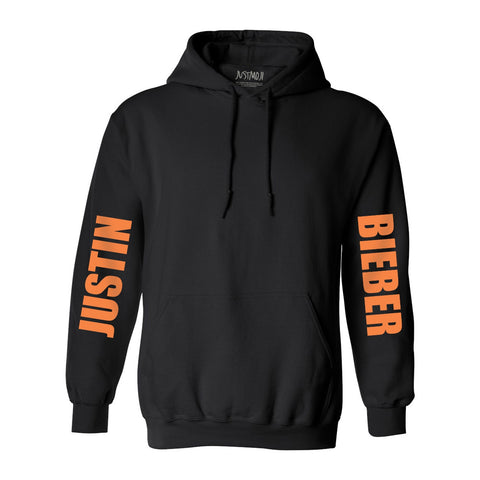 JB Orange Square Black Hoodie