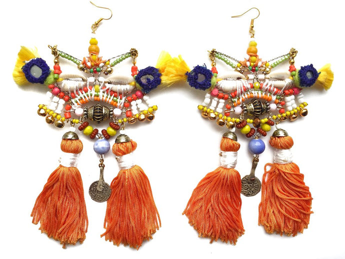 THIRZA STATEMENT TASSEL EARRINGS