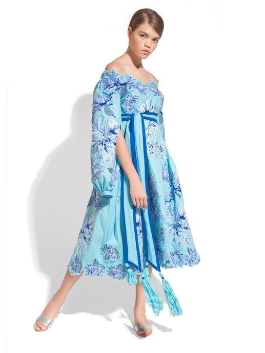 Caftan Dress 'CORNFLOWERS'