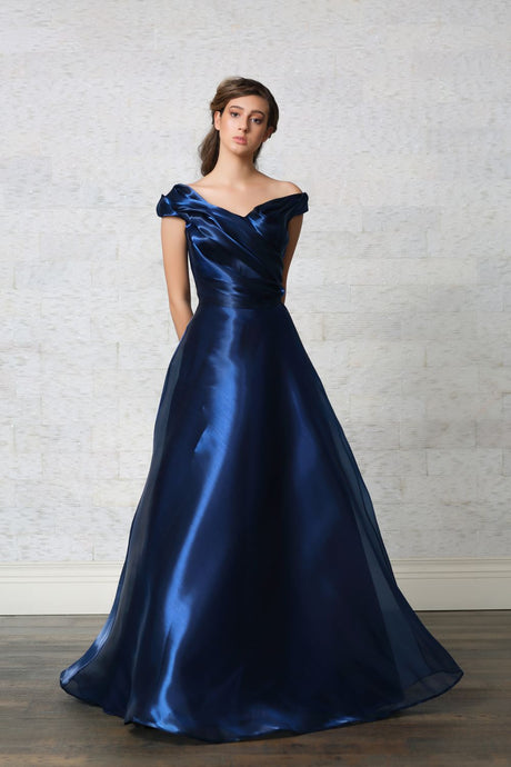 Draped Ball Gown