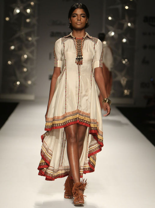 Kutch Asymmetrical Shirt Dress
