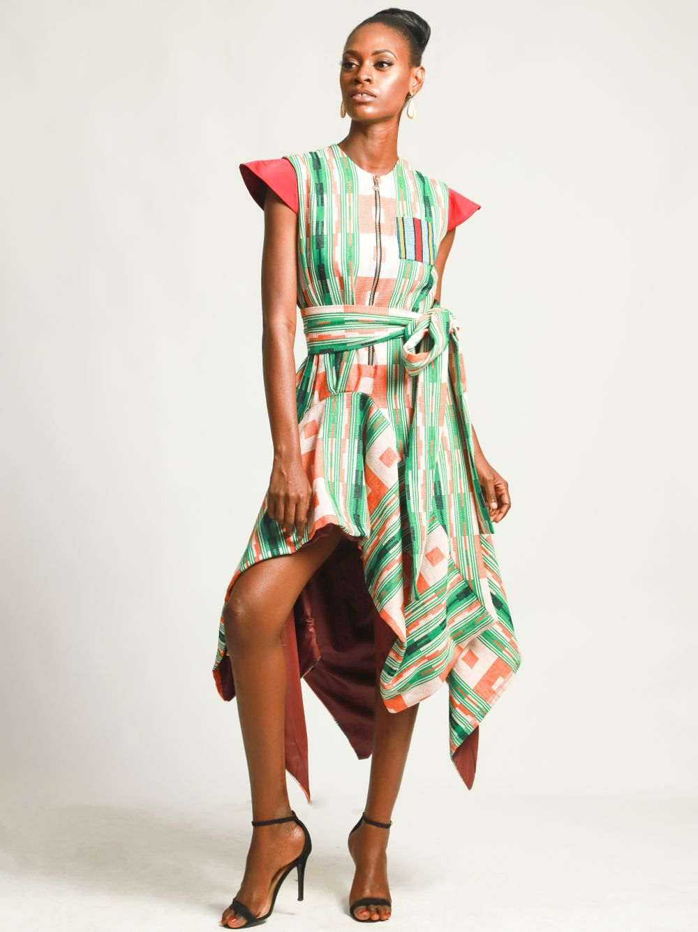 Ebitemi hand-woven silk dress
