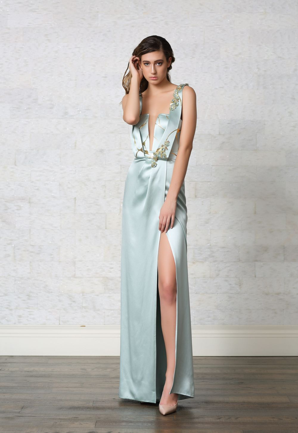 Hand Painted Evening Gown