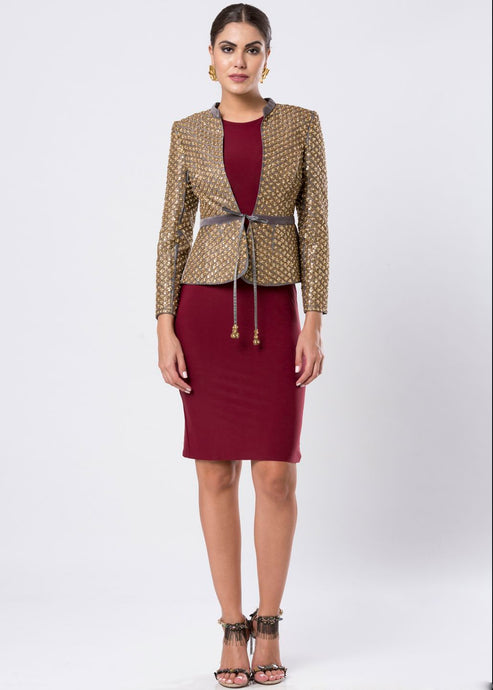 GOLD SEQUINED JACKET
