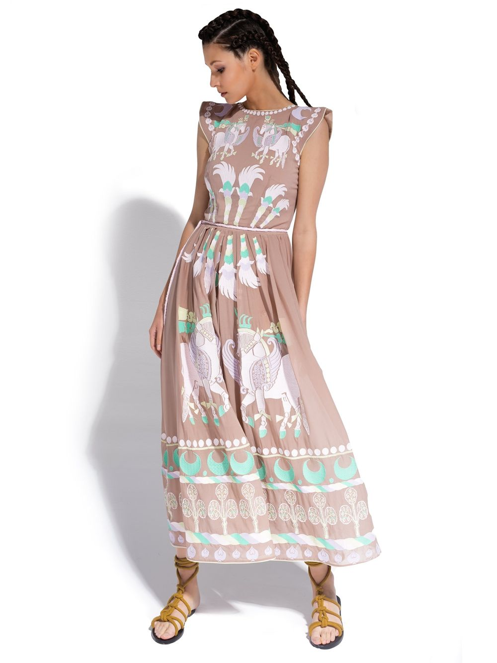 Sik Dress 'DAY SPRING HORSE'