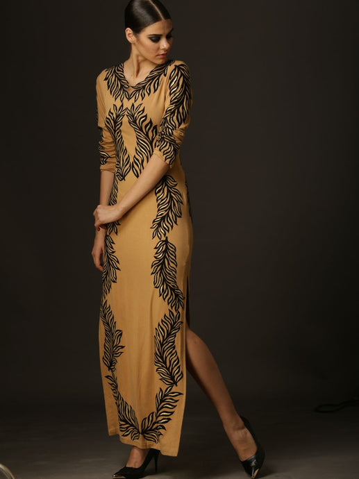 Magic Feather Long Dress