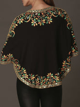 Embroidered Short Cape
