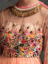 EMBELLISHED BLOUSE WITH SKIRT
