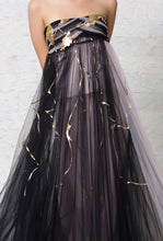 Hand Beaded Painted Ball Gown